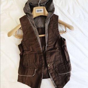 Tops - New Junior vest brown top one size